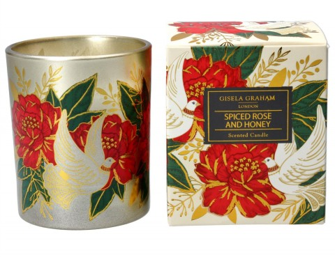 Boxed Scented Candle Large - Doves and Roses