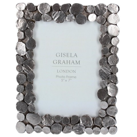 Pewter Pebble Picture Frame Medium