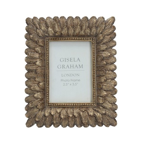 Gold Feather Picture Frame Mini