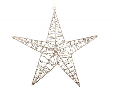 Metal Star 30cm - Gold Wire