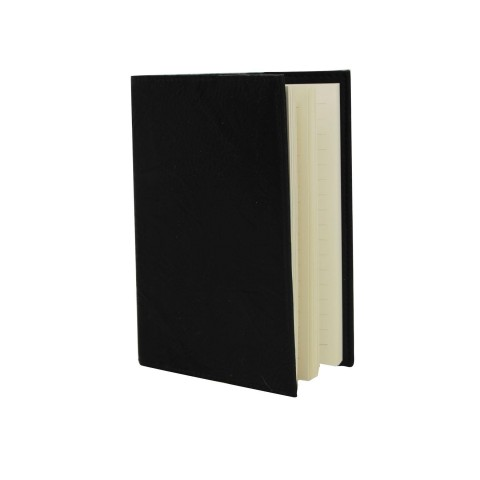 Black Leather Effect A5 Notebook