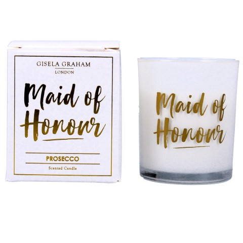 Maid of Honour Mini Prosecco Scented Boxed Candle