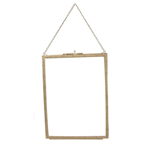 Gold Beaded Edge Hanging Picture Frame - Medium