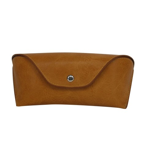 Tan Leather Effect Glasses Case
