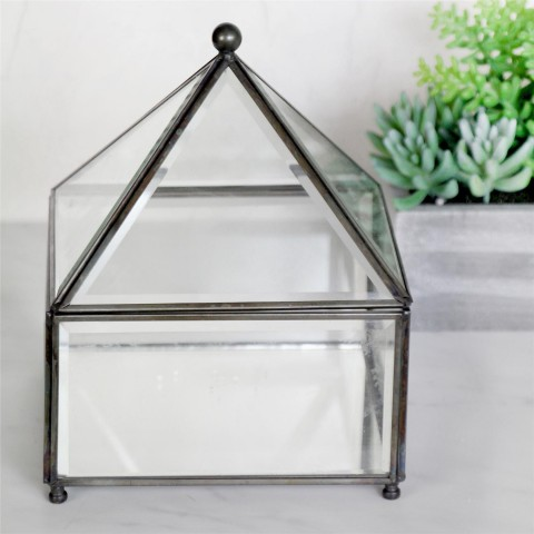 Glass Pyramid Trinket Box