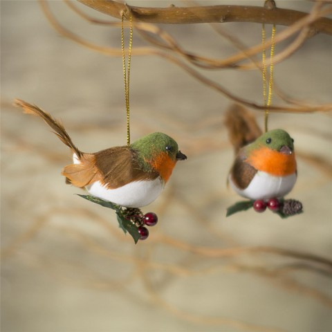 Feather Robin Christmas Tree Decoration