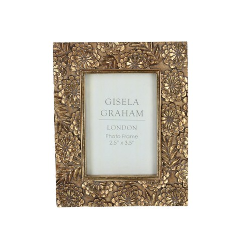 Gold Floral  Picture Frame Mini