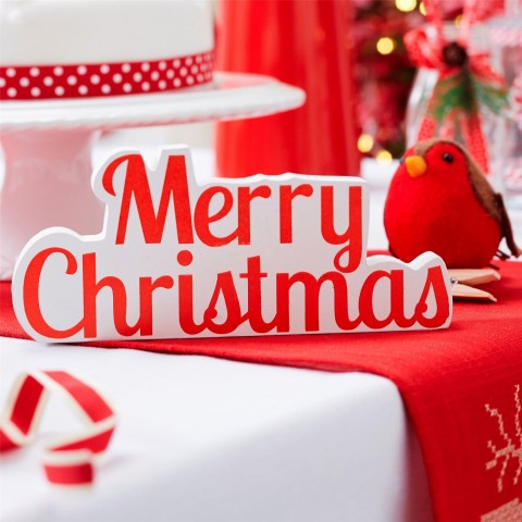Standing Merry Christmas Sign