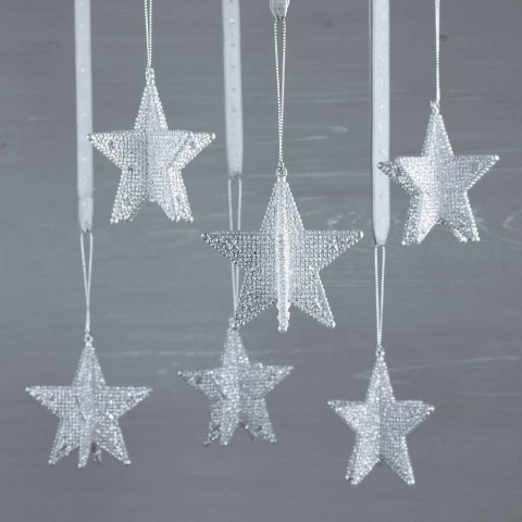 Silver 3D Star Decoration