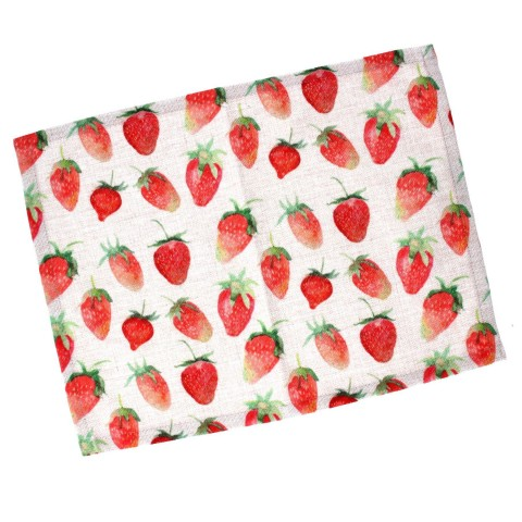 Strawberry Print Fabric Placemat