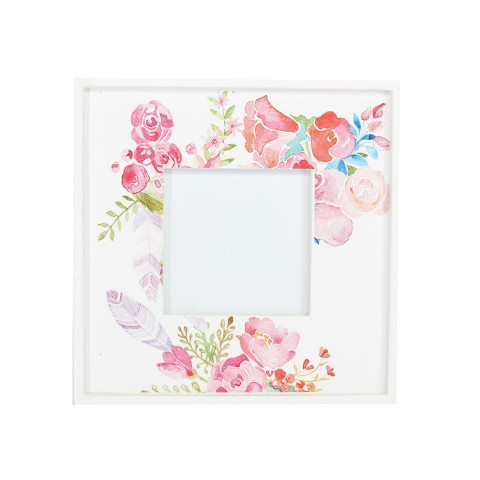 Pink Flower Wood Picture Frame