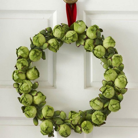 Brussel Sprout Wreath - Round