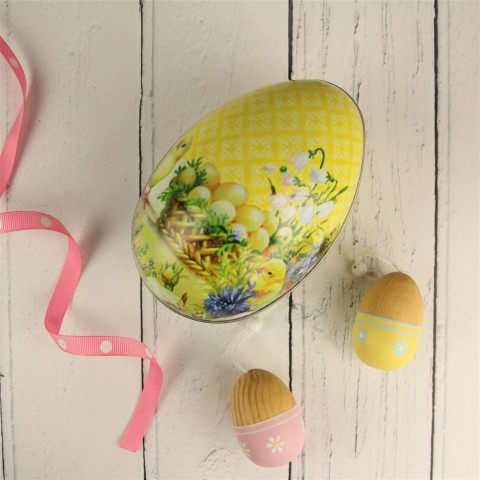 Yellow Spring Chick Easter Egg Gift Tin