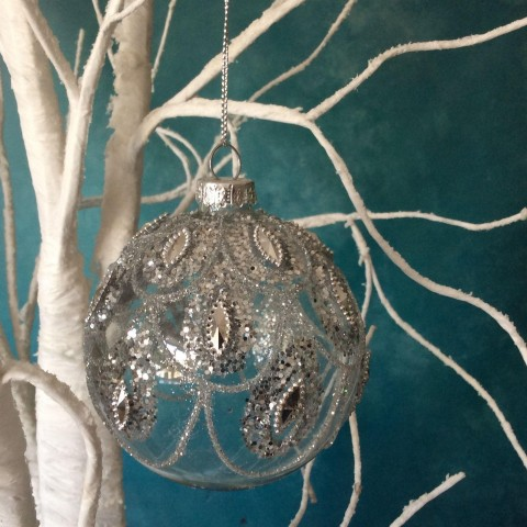 Silver Swag Bauble