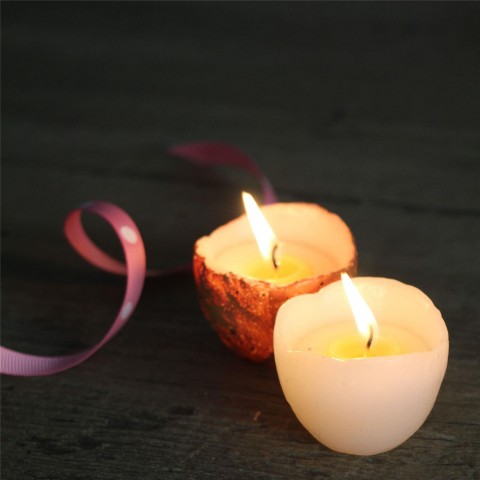 Set of Four Easter Egg Candles