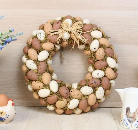 Moss Natural Egg Easter Wreath