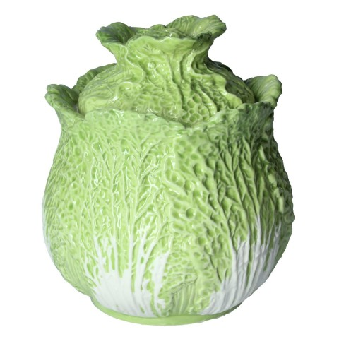 Cabbage Ceramic Pot with Lid