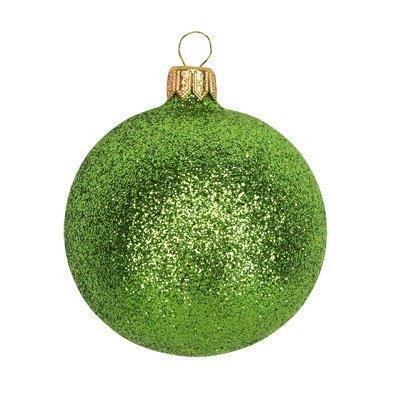 Lime Green Glitter Bauble