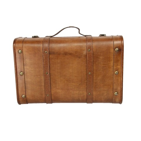 Vintage Style Wooden Decorative Luggage Trunk