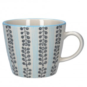 Blue Stripe Berry Mug