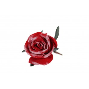 Clip-on Flower 9cm - Red Rose
