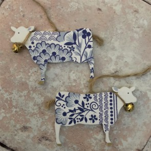 Set of Two Cow Decorations