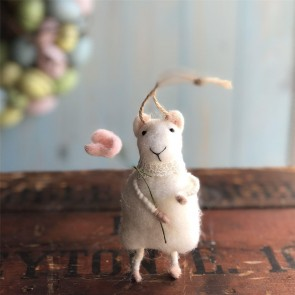 Wool Mouse Easter Decoration - Small