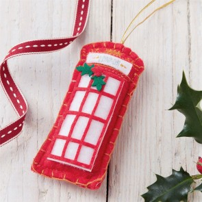 Felt Telephone Box Christmas Decoration