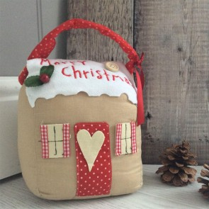 Christmas Cottage Doorstop