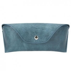 Blue Leather Effect Glasses Case