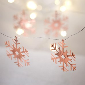 Rose Gold Snowflake Decorations