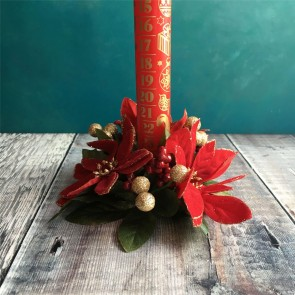 Poinsettia Candle Ring - Small