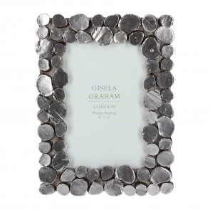 Pewter Pebble Picture Frame Small
