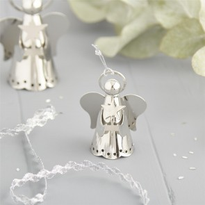 Silver Angel Christmas Decoration - Small
