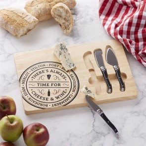 Rectangle Cheeseboard & Knives Set