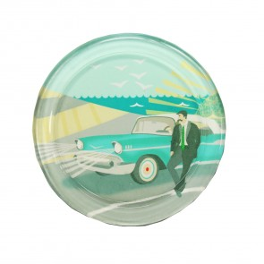 Classic Car Glass Coaster
