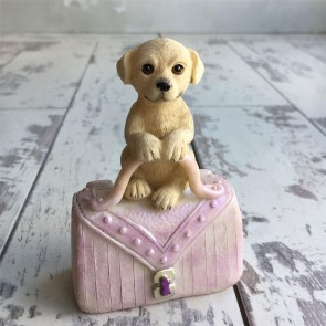 Labrador On Pink Handbag Dog Ornament
