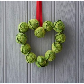 Brussel Sprout Wreath - Small Heart