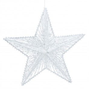 Metal Decoration Large - White Wire Mesh Star