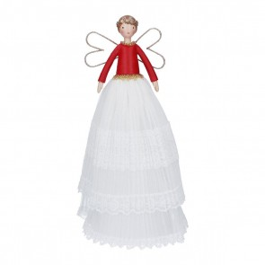 Tree Top Fairy 28cm - Scandi Lace Tiered Skirt