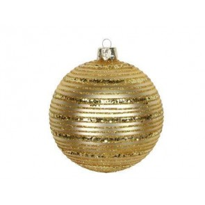 Gold Bauble With Glitter Astral