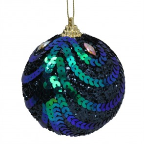 Ball Decoration (6cm) - Peacock Sequins