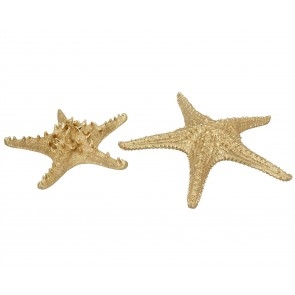 Set of 2 Resin Ornament 29cm - Gold Star Fish