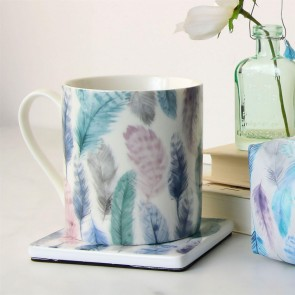 Pastel Feathers Bone China Mug