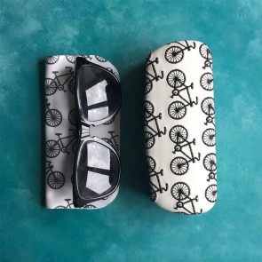 Embroidered Glasses Case & Cloth - Bicycle