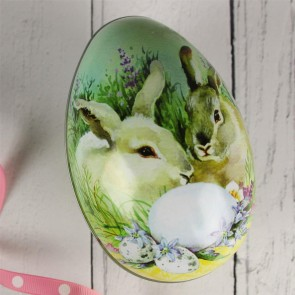 Rabbit Easter Egg Gift Tin