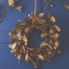 Hessian Holly Christmas Door Wreath