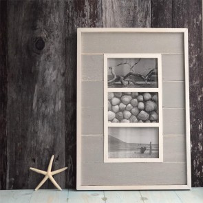 Grey Triple Picture Frame