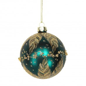 Gold Peacock Feather Bauble