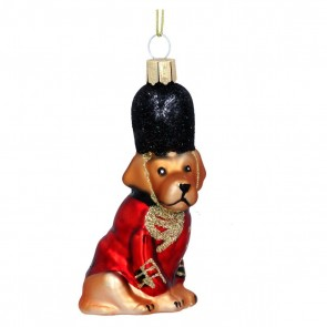 Glass Shape 9cm - Red Soldier Dog